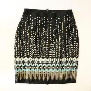 Ann Taylor Exposed Zipper Stretch Pencil Skirt